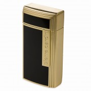 Pierre Cardin Black & Gold Cigar Lighter with Cutter (MF-210-03)